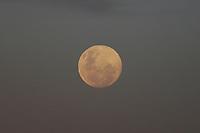 GUARULHOS, SP, 25.05.2021 - CLIMA-SP - Lua cheia vista no Aeroporto Internacional de São Paulo, em Guarulhos, nesta terça-feira, 25. (Foto Charles Sholl/Brazil Photo Press)
