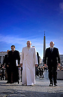 Pope Francis  during his weekly general audience in St. Peter square at the Vatican, Wednesday.February. 24, 2016.