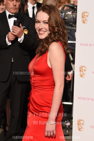 Charlotte Spencer<br /> arrives for the 2015 BAFTA TV Awards at the Theatre Royal, Drury Lane, London. 10/05/2015 Picture by: Steve Vas / Featureflash