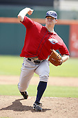 May 23, 2009:  Pitcher John Meloan of the Columbus Clippers, International League Triple-A affiliate of the Cleveland Indians, delivers a pitch during a game at Coca-Cola Field in Buffalo, NY.  Photo by:  Mike Janes/Four Seam Images