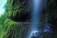 Kapaloa falls, cascades 500 feet, located in the back of Pololu valley at the end of the road in North Kohala on the Big Island of Hawaii