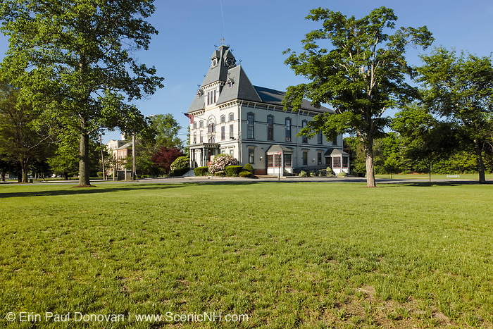 Topsfield Town Hall in Topsfield, Massachusetts USA. This town hall was built in 1873.