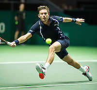 Rotterdam, The Netherlands, February 12, 2016,  ABNAMROWTT, Nicolas Mahut (FRA)<br /> Photo: Tennisimages/Henk Koster