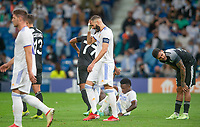 28th September 2021; Estadio Santiago Bernabeu, Madrid, Spain; Men's Champions League, Real Madrid CF versus FC Sheriff Tiraspol; Benzema missed a goal chance and cannot get his second goal