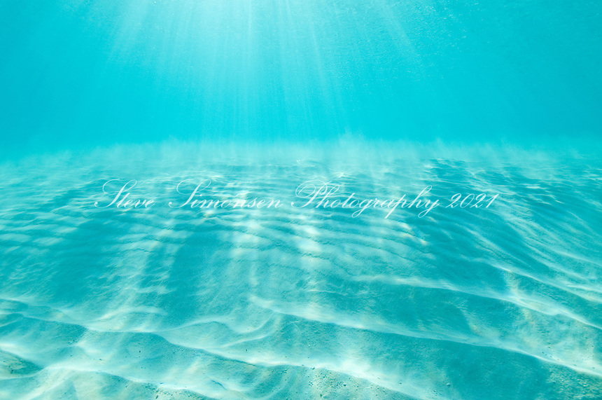 Clear blue Caribbean ocean water<br /> Trunk Bay<br /> Virgin Islands National Park