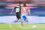 Filipe Luis (r) of Atletico de Madrid is followed by Danilo Luiz Da Silva of Real Madrid during their 2016-17 UEFA Champions League Semifinals 2nd leg match between Atletico de Madrid and Real Madrid at the Estadio Vicente Calderon on 10 May 2017 in Madrid, Spain. Photo by Diego Gonzalez Souto / Power Sport Images