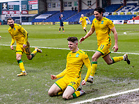 13th March 2021; Global Energy Stadium, Dingwall, Highland, Scotland; Scottish Premiership Football, Ross County versus Hibernian; Kevin Nisbet of Hibernian celebrates after scoring Hibs second goal to make it 2-1 to Hibs in the 60th minute