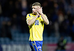 Kilmarnock v St Johnstone…..04.12.19   Rugby Park   SPFL<br />Liam Gordon applauds th saints fans at full time<br />Picture by Graeme Hart.<br />Copyright Perthshire Picture Agency<br />Tel: 01738 623350  Mobile: 07990 594431