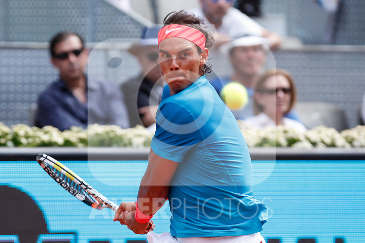 Rafa Nadal from Spain during his Madrid Open tennis tournament match against Grigor Dimitrov from Bulgary Republic in Madrid, Spain. May 08, 2015. (ALTERPHOTOS/Victor Blanco)