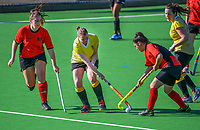 Action from the Wellington women's P3 hockey match between Northern United and Naenae at National Hockey Stadium in Wellington, New Zealand on Saturday, 11 September 2021. Photo: Dave Lintott / lintottphoto.co.nz