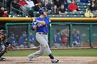 Allan Dykstra (10) of the Las Vegas 51s at bat against the Salt Lake Bees at Smith's Ballpark on May 8, 2014 in Salt Lake City, Utah.  (Stephen Smith/Four Seam Images)