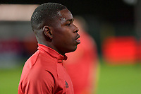 Eliot Matazo (15) of Belgium pictured before a soccer game between the national teams Under21 Youth teams of Belgium and Denmark on the fourth matday in group I for the qualification for the Under 21 EURO 2023 , on tuesday 12 th of october 2021  in Leuven , Belgium . PHOTO SPORTPIX   STIJN AUDOOREN