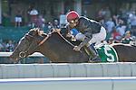 3-7-10: Gone Astray, Cornelio Velasquez up, wins the GIII Salvator Mile.