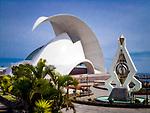 Spanien, Kanarische Inseln, Teneriffa, Santa Cruz de Tenerife: Auditorium | Spain, Canary Islands, Tenerife, Santa Cruz de Tenerife: Auditorium