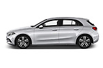 Car driver side profile view of a 2019 Mercedes Benz A Class Progressive 5 Door Hatchback