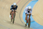 Leung Bo Yee (L) of the Ligne 8- CSR competes in the Women Elite - Individual Pursuit Final category during the Hong Kong Track Cycling National Championships 2017 at the Hong Kong Velodrome on 18 March 2017 in Hong Kong, China. Photo by Chris Wong / Power Sport Images