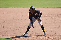 Pittsburgh Pirates Rodolfo Castro (64) leads off during a Major League Spring Training game against the Baltimore Orioles on February 28, 2021 at Ed Smith Stadium in Sarasota, Florida.  (Mike Janes/Four Seam Images)