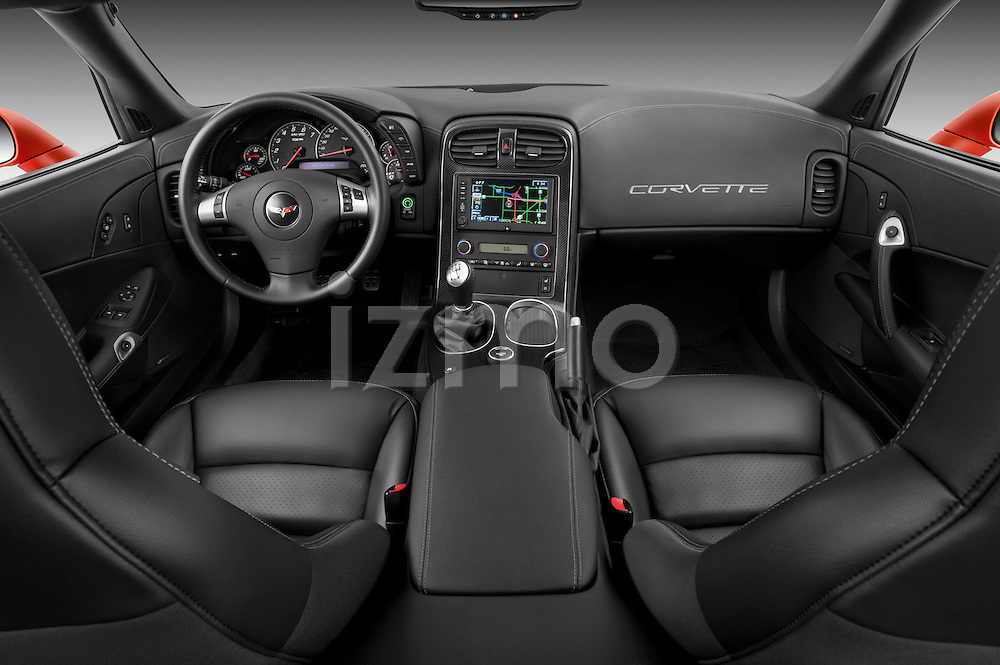 Straight dashboard view of a 2011 Chevrolet Corvette Z06 .