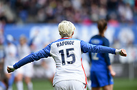 Harrison, N.J. - Sunday March 04, 2018: Megan Rapinoe celebrates a US goal during a 2018 SheBelieves Cup match between the women's national teams of the United States (USA) and France (FRA) at Red Bull Arena.
