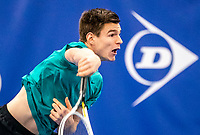 Amstelveen, Netherlands, 14  December, 2020, National Tennis Center, NTC, NK Indoor, National  Indoor Tennis Championships, Qualifying:  Quin Verstegen (NED)  <br /> Photo: Henk Koster/tennisimages.com