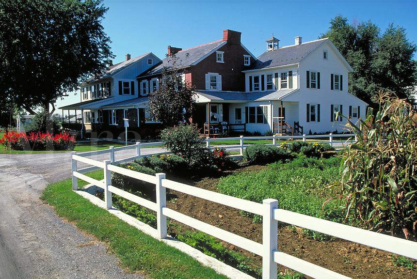 Three generations and three houses. Strasburg Pennsylvania USA Lancaster County.