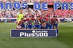 Players of Atletico de Madrid pose for a photo during their La Liga match between Atletico de Madrid and Granada CF at the Vicente Calderon Stadium on 15 October 2016 in Madrid, Spain. Photo by Diego Gonzalez Souto / Power Sport Images