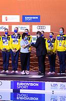 Artistic Swimming<br /> Best Team of Championships<br /> UKR UKRAINE<br /> ALEKSIIVA Maryna<br /> ALEKSIIVA Vladyslava<br /> FIEDINA Marta<br /> HRYSHKO Veronika<br /> NOSOVA Anna<br /> REZNIK Kateryna<br /> SAVCHUK Anastasiya<br /> SHYNKARENKO Alina<br /> SYDORENKO Kseniya<br /> YAKHNO Yelyzaveta<br /> DEREVIANCHENKO Olesia<br /> MATSIIEVSKA Sofiia<br /> XXXV LEN European Aquatic Championships<br /> Duna Arena<br /> Budapest  - Hungary  11/5/2021<br /> Photo Pasquale Francesco Mesiano / Deepbluemedia / Insidefoto