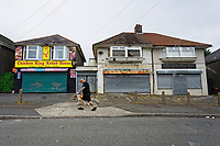 Pictured: Shops in Mayhill. Wednesday 16 June 2021<br /> Re: Riot aftermath in the Mayhill area of Swansea, Wales, UK.