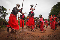 Muria young people dance during Ghotul (a dormitory where teenage boys and girls mingle to gain knowledge and social ethics) itself. The main dances of the tribe are Har Endanna and Hulki. Har Endanna dance is performed during the marriage ceremonies