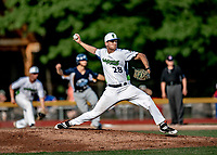 20 June 2021: Vermont Lake Monsters pitcher Tyler Fagler, from Tampa, FL, on the mound against the Westfield Starfires at Centennial Field in Burlington, Vermont. The Lake Monsters fell to the Starfires 10-2 at Centennial Field, in Burlington, Vermont. Mandatory Credit: Ed Wolfstein Photo *** RAW (NEF) Image File Available ***