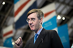 © Joel Goodman - 07973 332324 . 02/10/2017. Manchester, UK. JACOB REES-MOGG is interviewed for television at the conference . The second day of the Conservative Party Conference at the Manchester Central Convention Centre . Photo credit : Joel Goodman