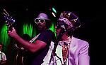 November 3, 2011 New York: Singers / Musicians Brother Joscephus and The Right Reverend Dean Dawg of Brother Joscephus and the Love Revival Revolution perform Hiro Ballroom on November 3, 2011 in New York.