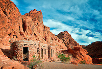 Stone cabins at Valley of Fire State Park, Nevada