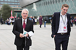 © Joel Goodman - 07973 332324 . 27/09/2016 . Liverpool , UK . Shadow Chancellor JOHN MCDONNELL with adviser SEB CORBYN (r) outside the conference on the third day of the Labour Party Conference at the ACC Liverpool . Photo credit : Joel Goodman