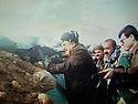 Iraq 2014, November 26, on the front near Kirkuk , Hama Haji Mahmoud  with his son Atta   Irak 2014  Le 26 novembre, sur le front pres de Kirkouk, Hama Haji Mahmoud avec son fils Atta