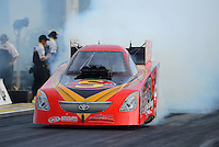 Sept. 28, 2012; Madison, IL, USA: NHRA funny car driver Jim Head during qualifying for the Midwest Nationals at Gateway Motorsports Park. Mandatory Credit: Mark J. Rebilas-