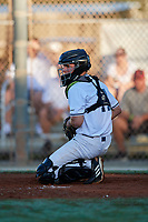 Eric Grintz during the WWBA World Championship at the Roger Dean Complex on October 19, 2018 in Jupiter, Florida.  Eric Grintz is a catcher from Glenmoore, Pennsylvania who attends Downington West Campus High School and is committed to North Carolina.  (Mike Janes/Four Seam Images)