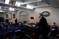 United States President Donald J. Trump speaks during a news conference in the Brady Press Briefing Room of the White House in Washington, D.C., U.S., on Friday, May 22, 2020. Trump ordered states to allow churches to reopen from stay-at-home restrictions imposed to combat the coronavirus outbreak, saying he would override any governor who refuses. <br /> Credit: Andrew Harrer / Pool via CNP/AdMedia