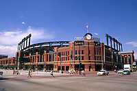 Coors Field for Colorado Rockies in downtown Denver Colorado US