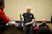 Bradenton, FL : Thomas Rongen speaks to US Soccer colleagues before a presentation in Bradenton, Fla., on January 4, 2018. (Photo by Casey Brooke Lawson)