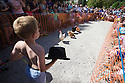 06/08/16<br /> <br /> ***WITH VIDEO***<br /> <br /> Brody Wordsworth, 6, cheers on his hen.<br /> <br /> Crowds cheer on hens as they compete at the World Hen Racing Championship outside the Barley Mow pub in Bonsall near Matlock Bath, in the Derbyshire Peak District.<br /> <br /> All Rights Reserved, F Stop Press Ltd. +44 (0)1773 550665