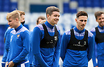 St Johnstone Training...21.05.21<br />Charlie Gilmour pictured during training at McDiarmid Park this morning ahead of tomorrow's Scottish Cup Final against Hibs.<br />Picture by Graeme Hart.<br />Copyright Perthshire Picture Agency<br />Tel: 01738 623350  Mobile: 07990 594431