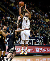 Jorge Gutierrez of California shoots the ball during the game against Colorado at Haas Pavilion in Berkeley, California on January 12th, 2012.   California defeated Colorado, 57-50.