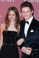PALM SPRINGS, CA, USA - JANUARY 03: Hannah Bagshawe, Eddie Redmayne arrives at the 26th Annual Palm Springs International Film Festival Awards Gala Presented By Cartier held at the Palm Springs Convention Center on January 3, 2015 in Palm Springs, California, United States. (Photo by David Acosta/Celebrity Monitor)