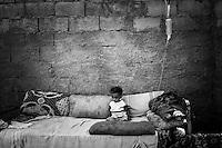 Remas, malnourished, 16 month old girl. Al Salifeen village.