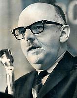 1969 FILE PHOTO - ARCHIVES -<br /> <br /> Mayor Jean Drapeau. We lack jingling cash<br /> <br /> <br /> 1969 <br /> <br /> PHOTO :  Bob Olsen - Toronto Star Archives - AQP