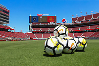 Santa Clara, CA - Sunday July 22, 2018: Balls, Levi's Stadium during a friendly match between the San Jose Earthquakes and Manchester United FC at Levi's Stadium.