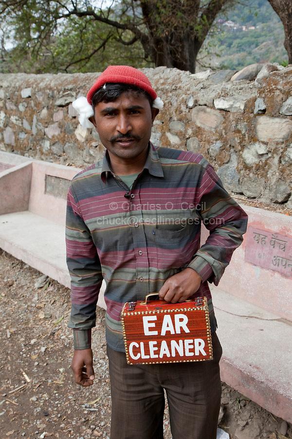 India, Rishikesh.  Ear Cleaner.