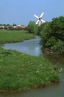 Europe/France/Pays de la Loire/85/Vendée/Env de Sallertaine: Le moulin de Rairé et le marais breton vendéen