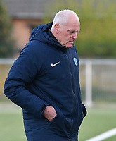 Head coach Guido Brepoels of KRC Genk pictured during a female soccer game between  Racing Genk Ladies and Eendracht Aalst on the 5 th matchday of play off 2 in the 2020 - 2021 season of Belgian Scooore Womens Super League , friday 7 th of May 2021  in Genk , Belgium . PHOTO SPORTPIX.BE | SPP | JILL DELSAUX